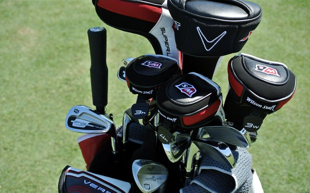 Paul Lawrie did some wood testing on Monday, but the Scot is set with his Wilson FG Tour irons and Wilson FG Tour Traction Control wedges.