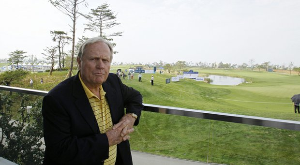 Jack Nicklaus in 2011 at his namesake course in Incheon, South Korea.