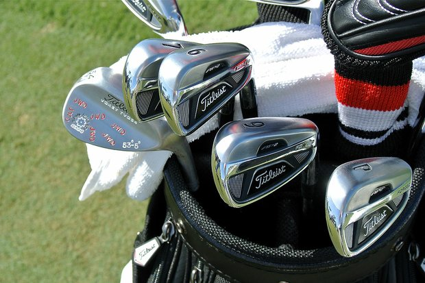 Webb Simpson, the defending U.S. Open champion, plays a set of Titleist 712AP2 irons.