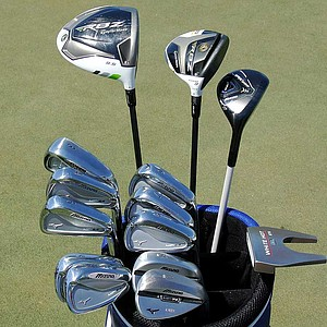Luke Donald plays Mizuno's MP-64 irons and MP-T4 wedges. His arsenal also includes a TaylorMade RocketBallz driver, a RocketBallz Stage 2 3-wood and a Mizuno JPX-825 hybrid.