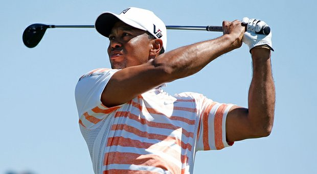 Tiger Woods during the second round of the WGC-Cadillac Championship.