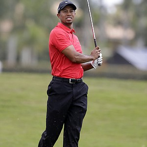 Tiger Woods on the No. 2 fairway during Sunday's final round of the WGC-Cadillac Championship in Doral, Fla.