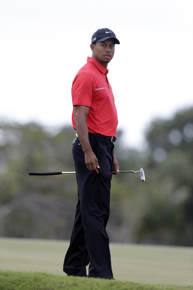 Tiger Woods on the No. 5 green during Sunday's final round of the WGC-Cadillac Championship in Doral, Fla.