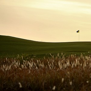 Another angle of No. 13 Blue at Streamsong Golf Course.