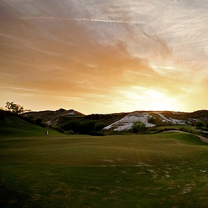 A view of No. 7 Blue from behind the green at Streamsong.