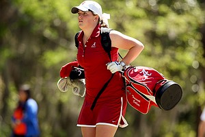 Alabama's Hannah Collier during the Sun Trust Gator Women's Invite at Mark Bostick Golf Course.
