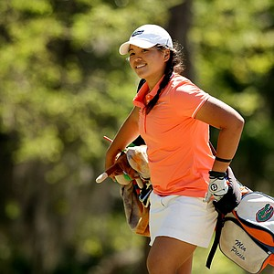 Florida's Mia Piccio is a two-time All SEC Honoree for 2011, 2012. She walks off the 9th tee during the Sun Trust Gator Women's Invite.