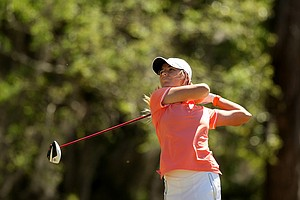 Florida's Elcin Ulu during the Sun Trust Gator Women's Invite at Mark Bostick Golf Course.