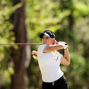 Oklahoma's AC Tanguay during the Sun Trust Gator Women's Invite at Mark Bostick Golf Course.