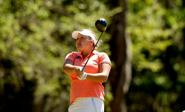 Florida's Camilla Hedberg during the Sun Trust Gator Women's Invite at Mark Bostick Golf Course.