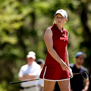 Alabama's Stephanie Meadow during the Sun Trust Gator Women's Invite at Mark Bostick Golf Course.