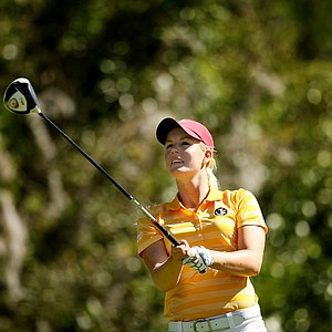 Florida State's Malin Jansson during the Sun Trust Gator Women's Invite at Mark Bostick Golf Course.