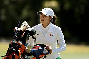 Christina Ocampo of Miami during the Sun Trust Gator Women's Invite.