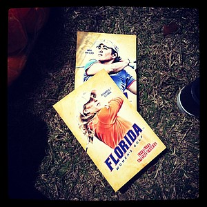 Schedule cards of senior Florida players can be picked up during the Sun Trust Gator Women's Invite at Mark Bostick Golf Course.