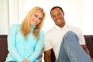 """""""Something nice that's happened off the course was meeting Lindsey Vonn,"""" Tiger Woods said on his Facebook fan page. He and Vonn are now dating."""