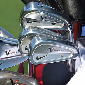 Nick Watney is using a set of Nike VR Pro Combo irons, including a VR Pocket Cavity 3-iron.