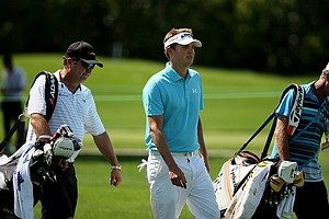 Jeff Overton gets in a little practice on Tuesday of the Arnold Palmer Invitational.