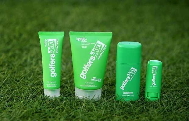 Golfers Skin sunscreen.