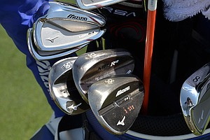 "Charles Howell III, affectionately known on Tour as ""Charlie Three Sticks,"" uses Mizuno MP-64 irons and the company's MP-T4 wedges."