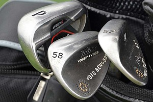 Ben Curtis plays Titleist's 712 AP1 irons and Vokey Design Spin Milled wedges.