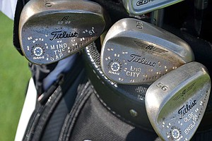 PGA Tour rookie Ben Kohles' Titleist Vokey Design SM4 are heavily detailed.