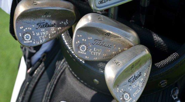 PGA Tour rookie Ben Kohles' Titleist Vokey Design SM4 are heavily detailed.