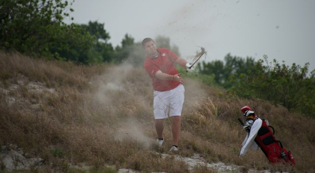 Bradley's Kyle Gunther on the fourth role of Streamsong's Red Course.