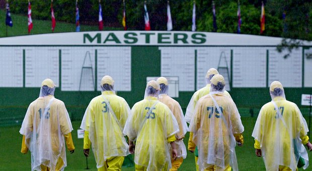 Heavy rain and local flooding struck Augusta (Ga.) National Golf Club early during the 2003 Masters.