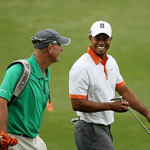 Tiger Woods at No. 9 on Wednesday of the Arnold Palmer Invitational at Bay Hill Club and Lodge.