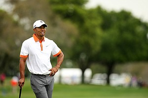 Tiger Woods on Wednesday of the Arnold Palmer Invitational at Bay Hill Club and Lodge.