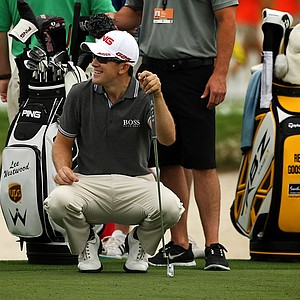 Scott Langley on the putting green on Wednesday of the Arnold Palmer Invitational at Bay Hill Club and Lodge.