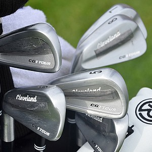 Ted Potter Jr., winner of last season's Greenbrier Classic, has weight added to the back of his Cleveland CG1 Tour irons.