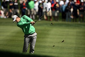 Justin Rose at No. 8 in Round 1 of the Arnold Palmer Invitational at Bay Hill Club and Lodge.