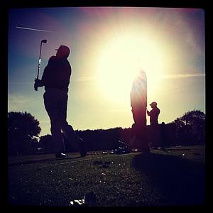 An Instagram photo of Scott Gardiner on the range in Round 1 of the Arnold Palmer Invitational.