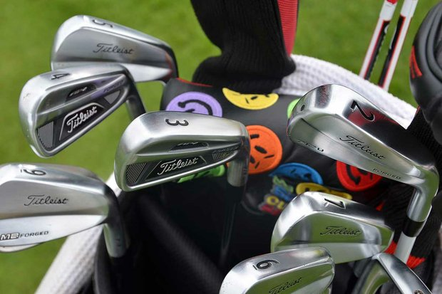 Australia's Marc Leishman has three different types of Titleist irons in his bag at Bay Hill—a 712U 2-iron, 712 AP2 3- and 4-ions, and 712 MB mid- and short-irons.