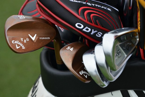 "These Callaway Forged wedges were personalized and stamped for Tommy ""Two Gloves"" Gainey."