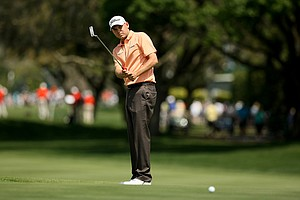 Bill Haas at No. 9 in Round 2 of the Arnold Palmer Invitational.