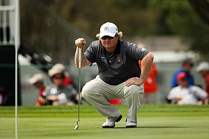 Brad Fritsch at No. 9 in Round 2 of the Arnold Palmer Invitational.