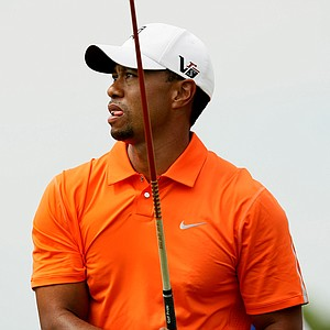Tiger Woods at No. 9 in Round 2 of the Arnold Palmer Invitational.