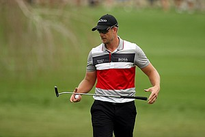 Henrik Stenson  at No. 8 on Saturday at the Arnold Palmer Invitational.