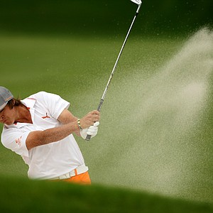 Rickie Fowler in the bunker at No. 1 during the final round at Arnold Palmer Invitational at Bay Hill.