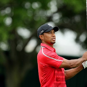 Tiger Woods watches his tee shot at No. 2 in the final round at Arnold Palmer Invitational at Bay Hill.