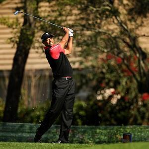 Tiger Woods at No. 8 on Monday at Arnold Palmer Invitational at Bay Hill.