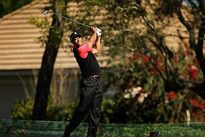 Tiger Woods at No. 8 on Monday at Arnold Palmer Invitational at Bay Hill.