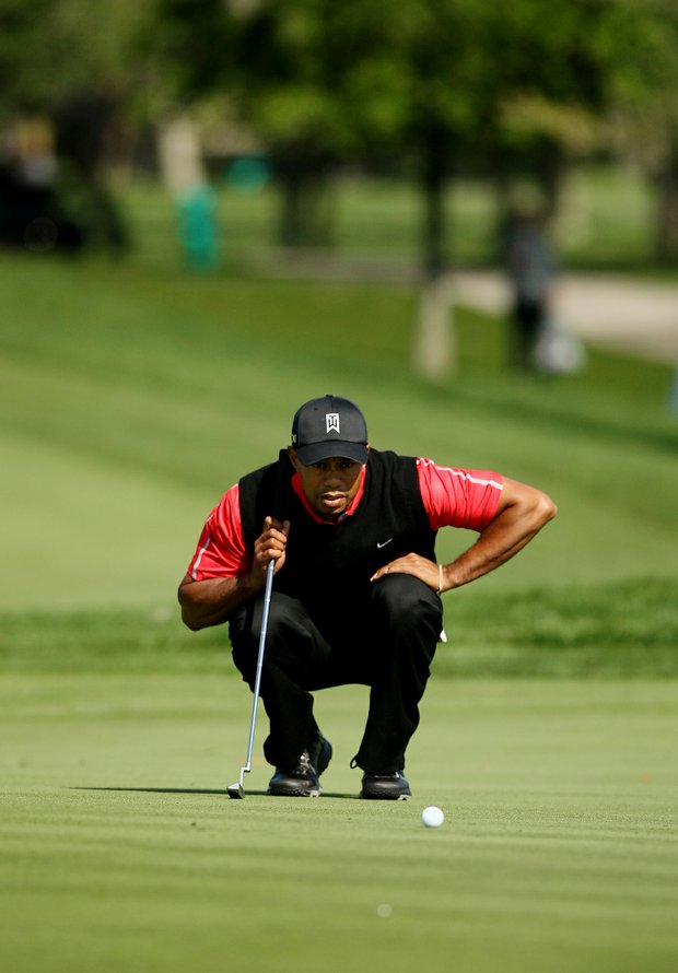 Tiger Woods on 5 green on Monday at Arnold Palmer Invitational at Bay Hill.