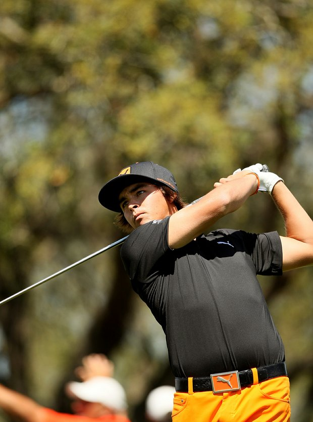 Rickie Fowler at No. 15 on Monday at Arnold Palmer Invitational at Bay Hill.