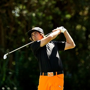 Rickie Fowler at No. 17 on Monday at Arnold Palmer Invitational at Bay Hill.