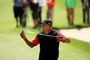 Tiger Woods wins his eighth Arnold Palmer Invitational victory at Bay Hill.