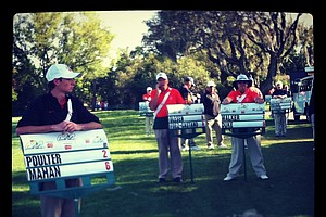 Standard bearers are ready to go on Monday at Arnold Palmer Invitational at Bay Hill.