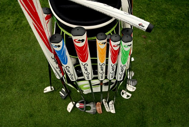 Super Stroke grips on Wednesday of the Arnold Palmer Invitational at Bay Hill Club and Lodge.